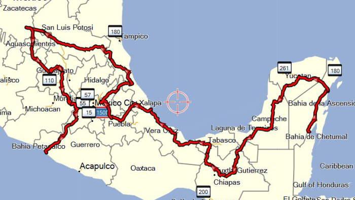 Mexiko Karte Welt.Welt Tour Com Mexiko